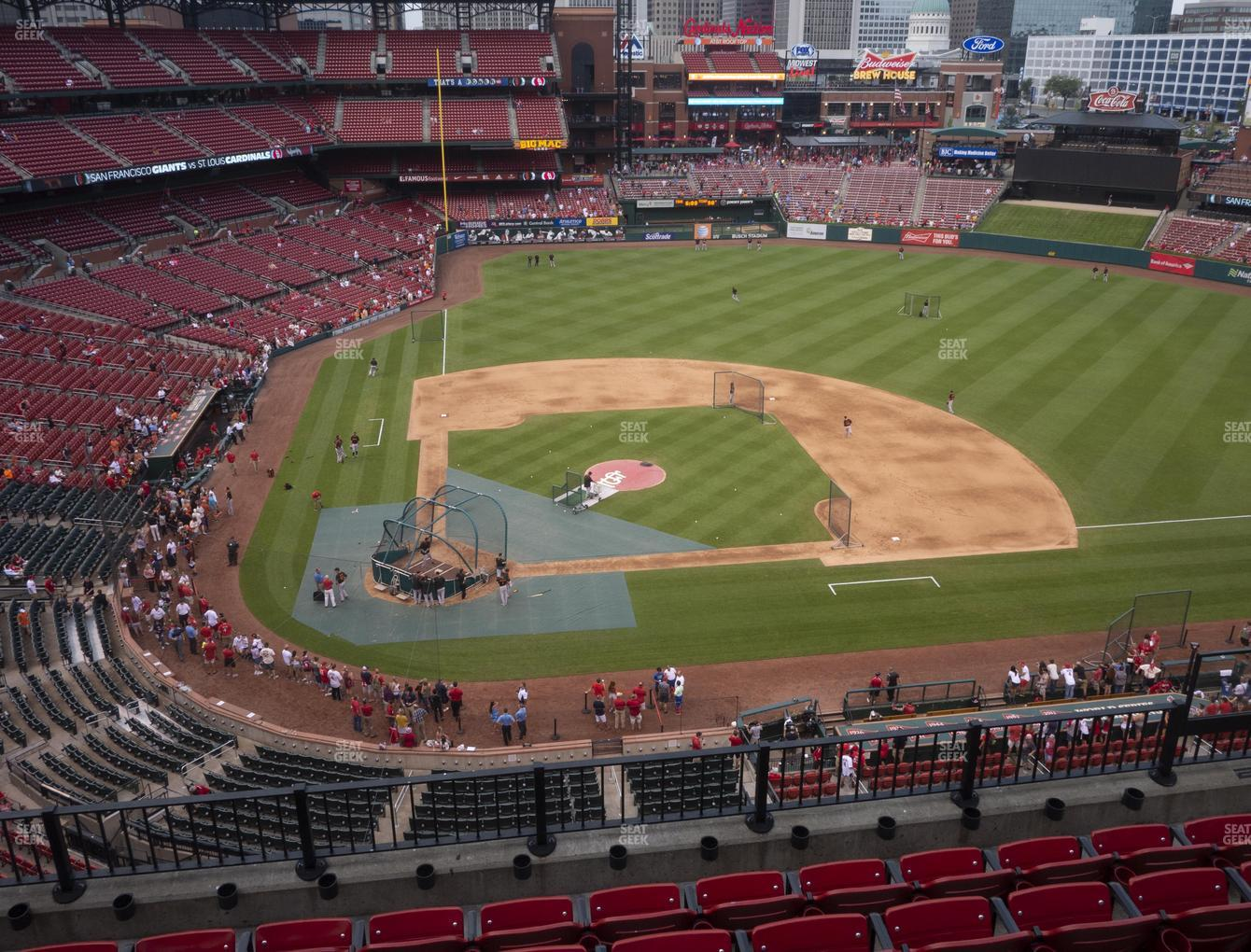 St. Louis Cardinals at Busch Stadium Infield Pavilion 346 View