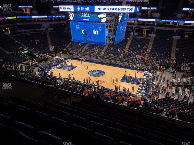Target Center Section 229 view