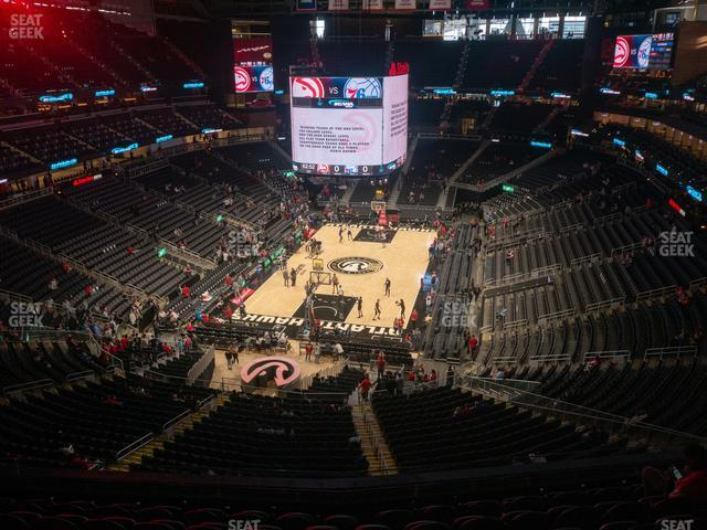 State Farm Arena Section 214 view