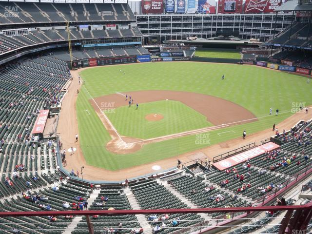 Globe Life Park Section 329 view
