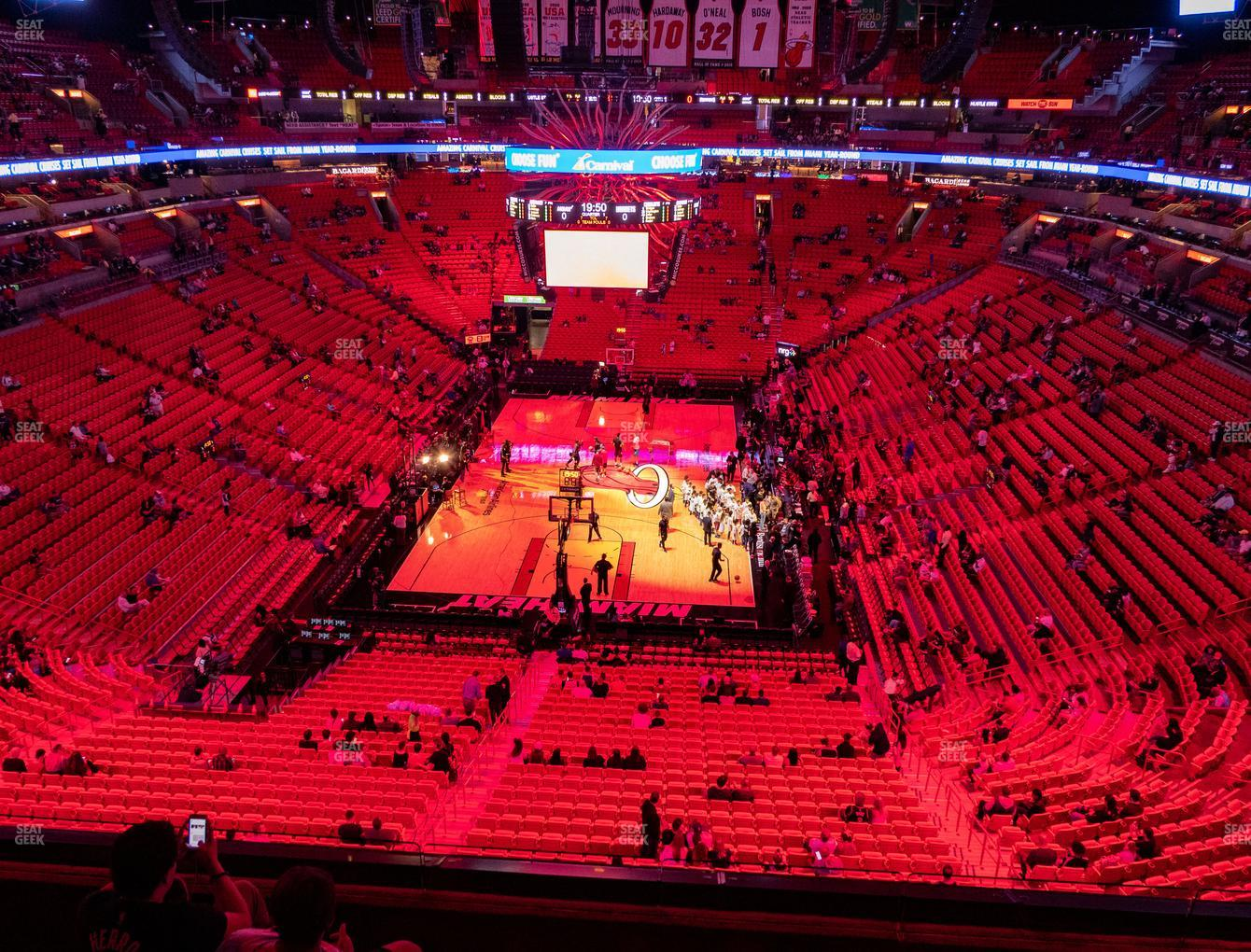 american airlines arena section 316 seat views   seatgeek