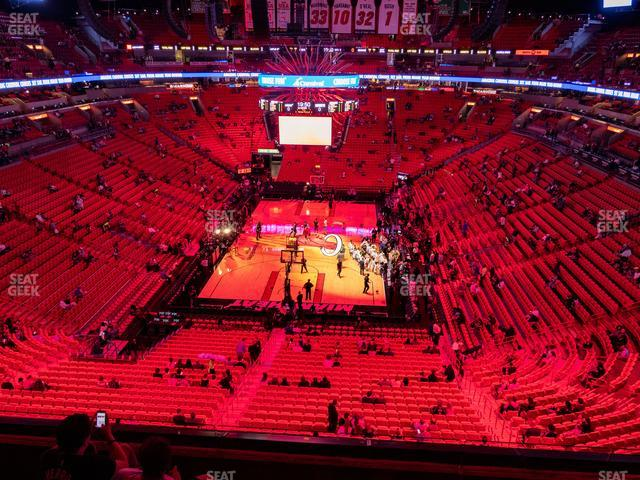 American Airlines Arena Section 316 view