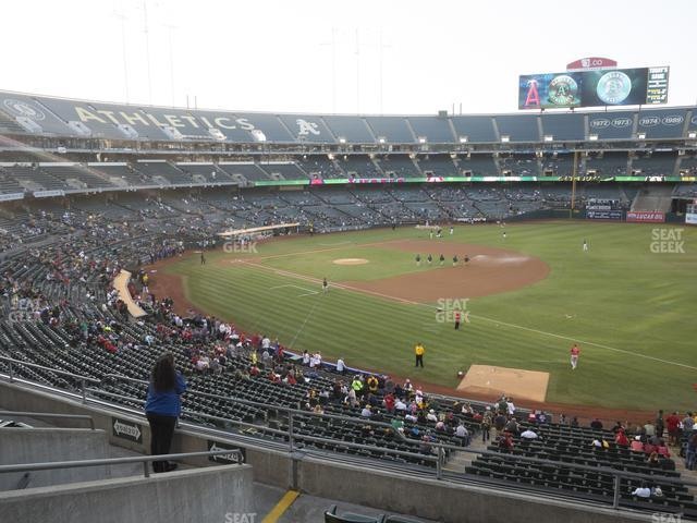 Oakland-Alameda County Coliseum Section 207 view