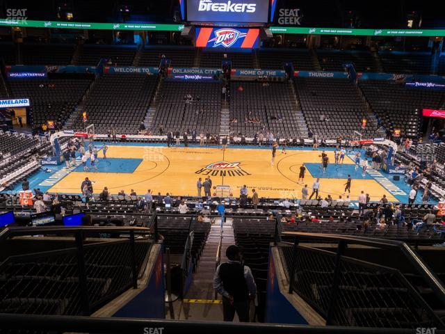 Chesapeake Energy Arena Section 223 view