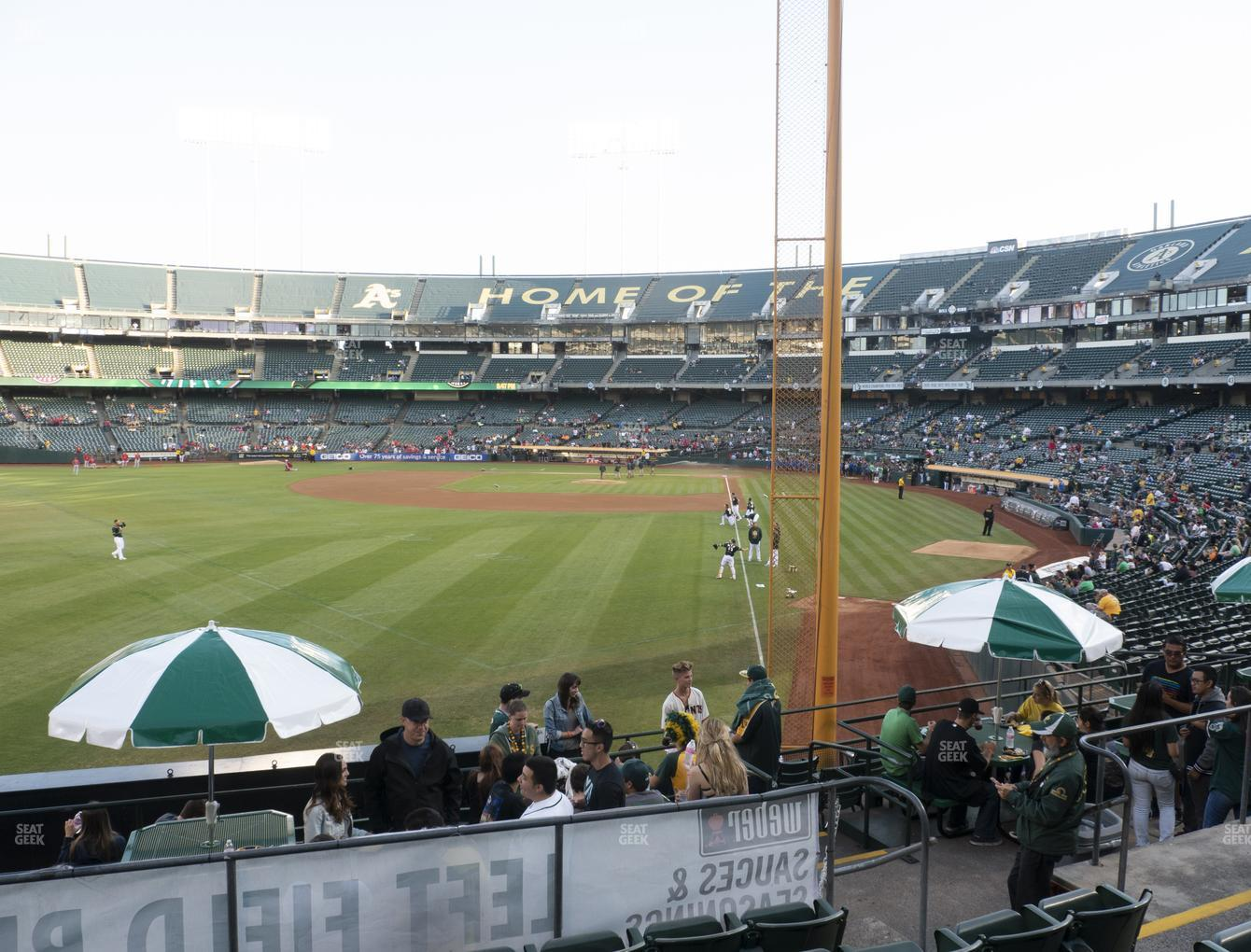 Oakland Athletics at Oakland-Alameda County Coliseum Section 131 View
