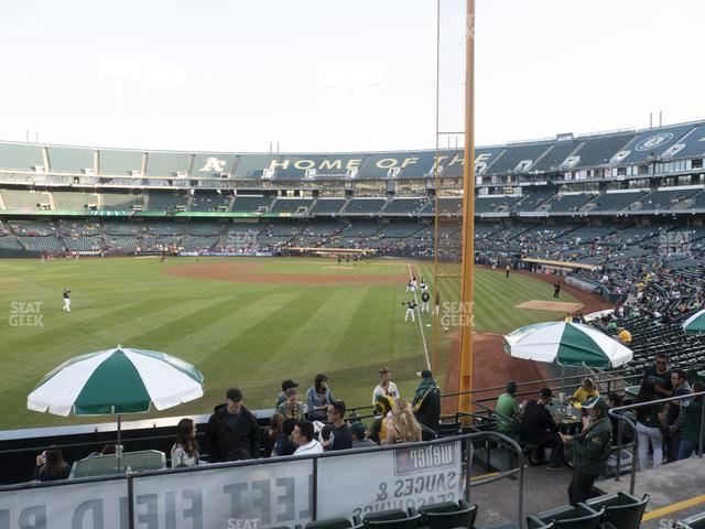 Oakland-Alameda County Coliseum Section 131 view