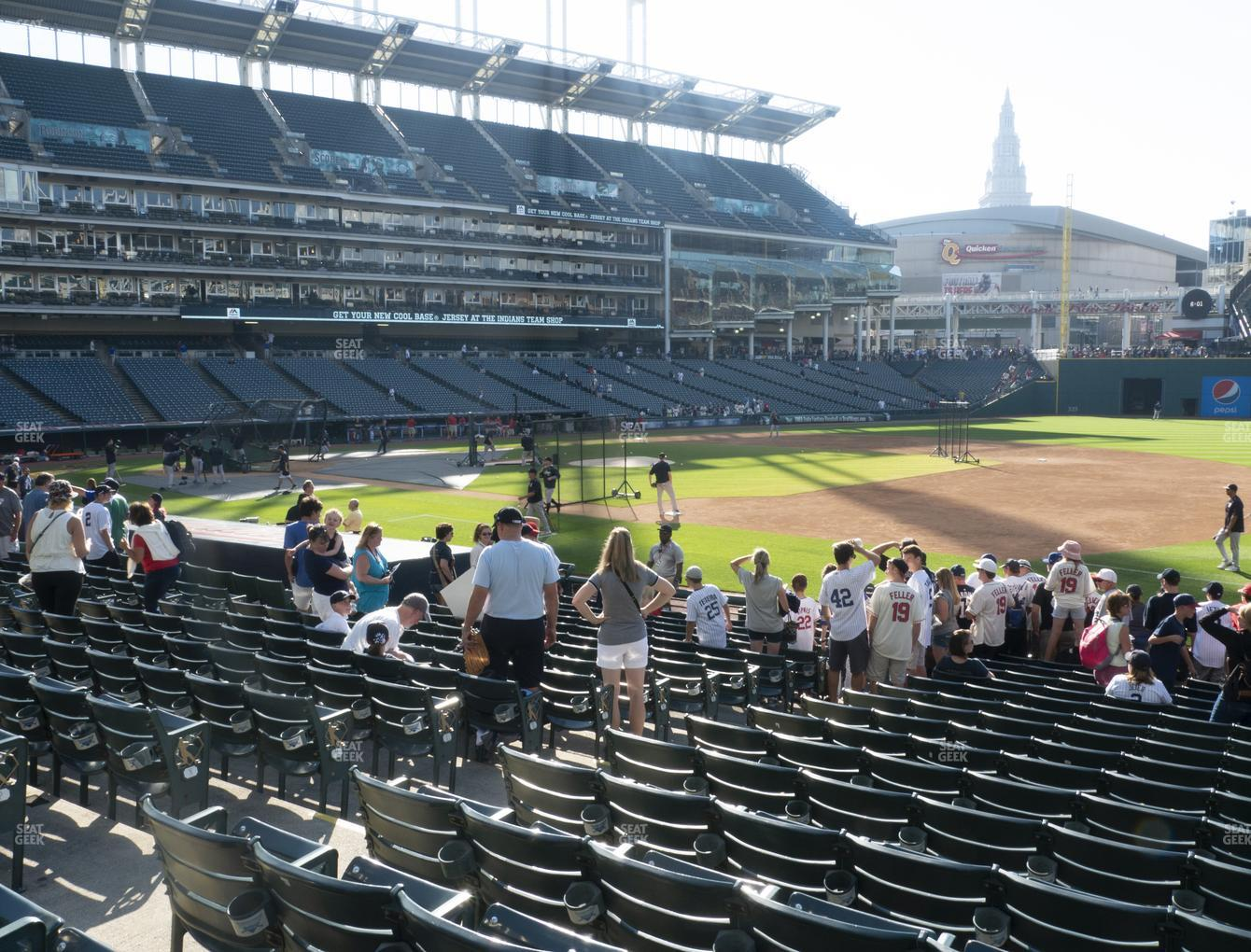 Cleveland Indians at Progressive Field Section 136 View
