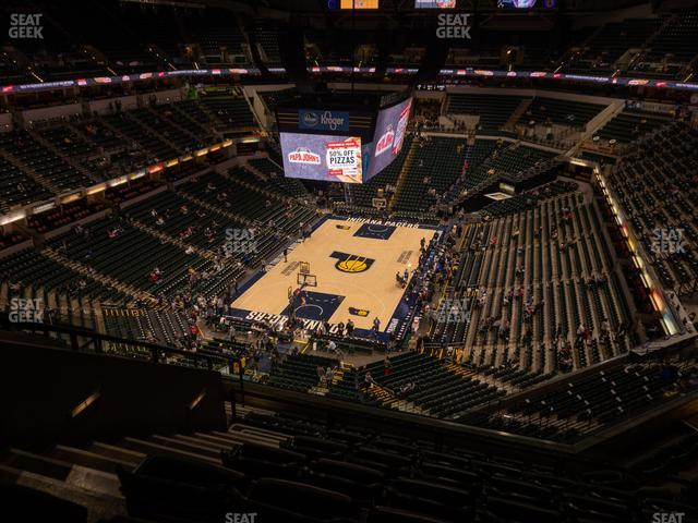 Bankers Life Fieldhouse Section 215 view