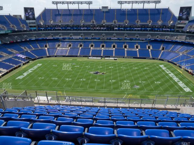 M&T Bank Stadium Section 553 view