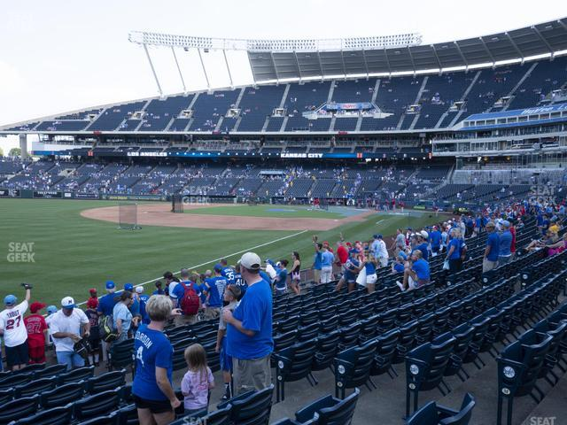 Kauffman Stadium Section 111 view