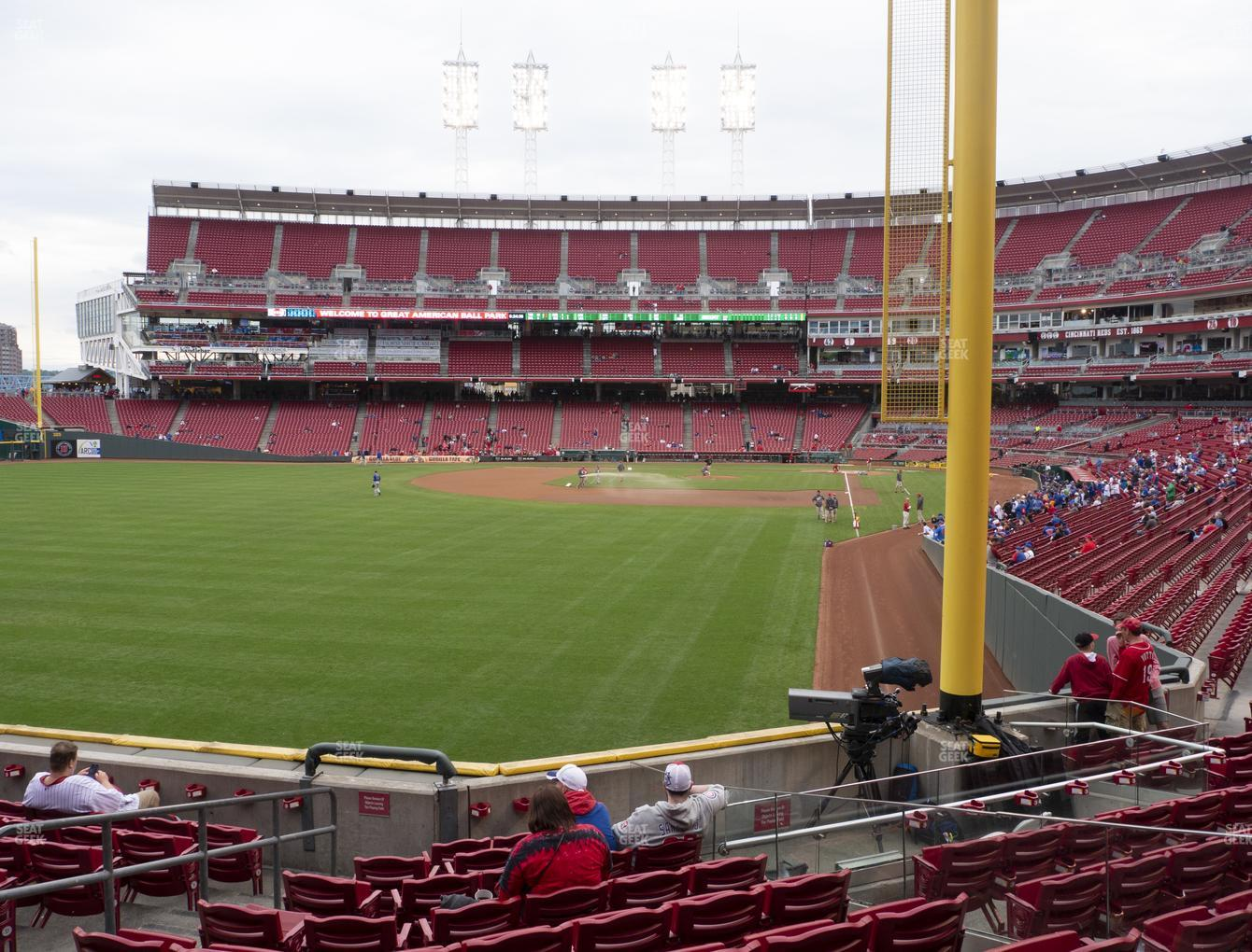 Cincinnati Reds at Great American Ball Park Section 106 View