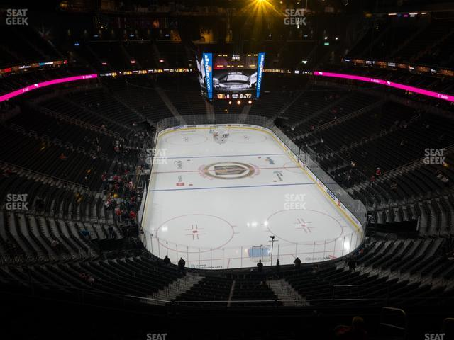 T-Mobile Arena Section 213 view