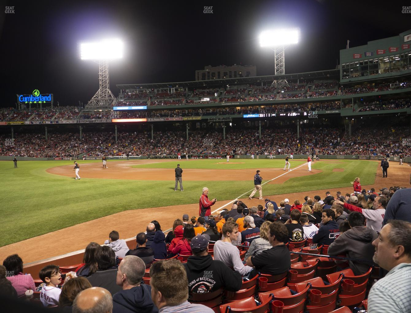 Boston Red Sox at Fenway Park Loge Box 162 View