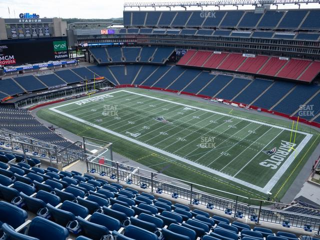Gillette Stadium Section 304 view