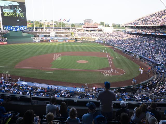 Kauffman Stadium Section 310 view