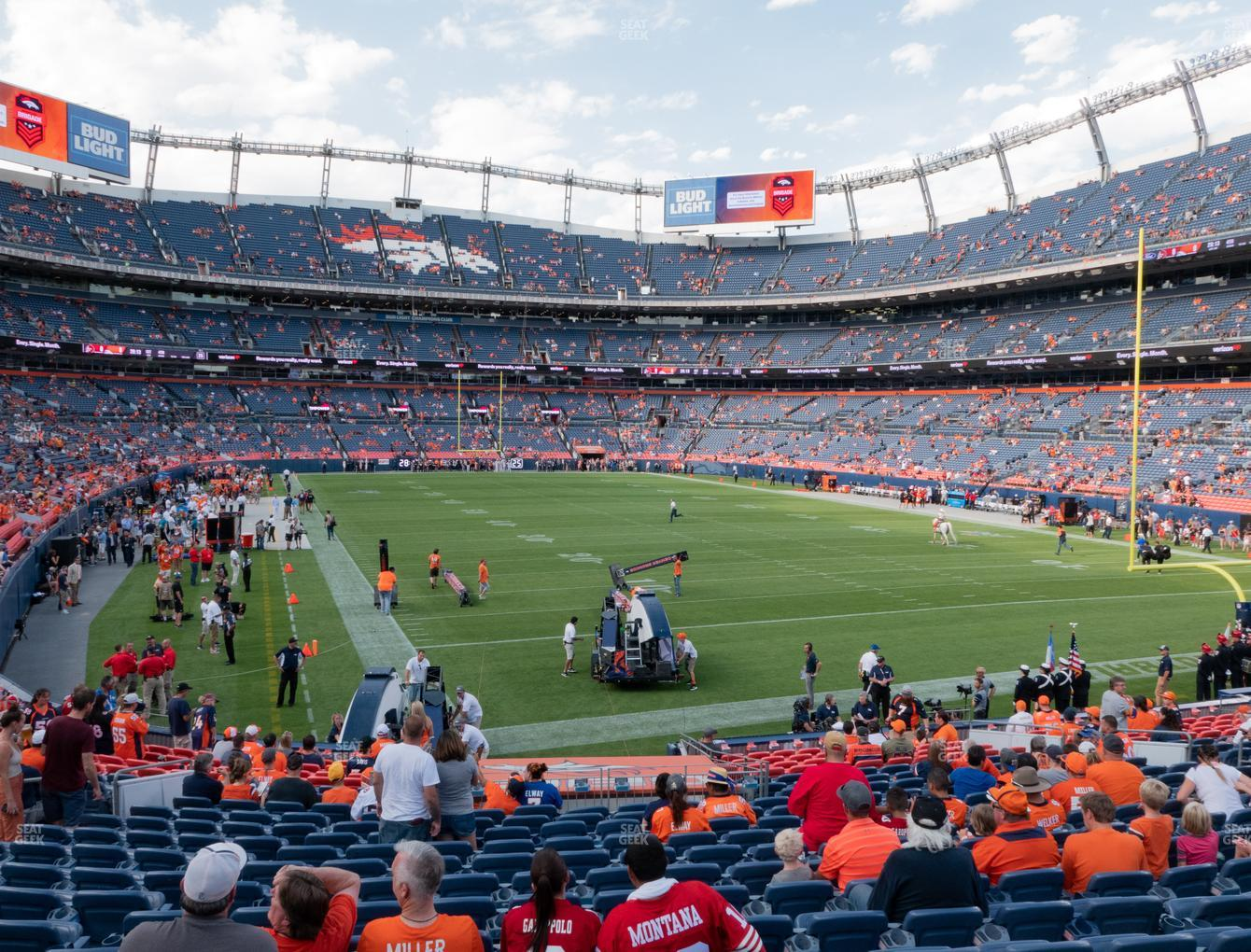 Denver Broncos at Empower Field at Mile High Section 135 View