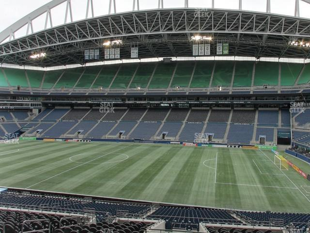 CenturyLink Field Section Club 206 view