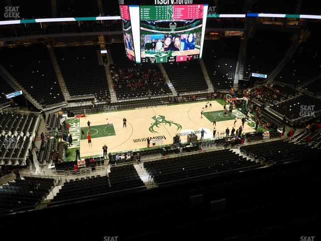 Fiserv Forum Section 223 view