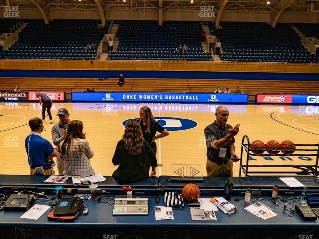 Cameron Indoor Stadium Section 19 view
