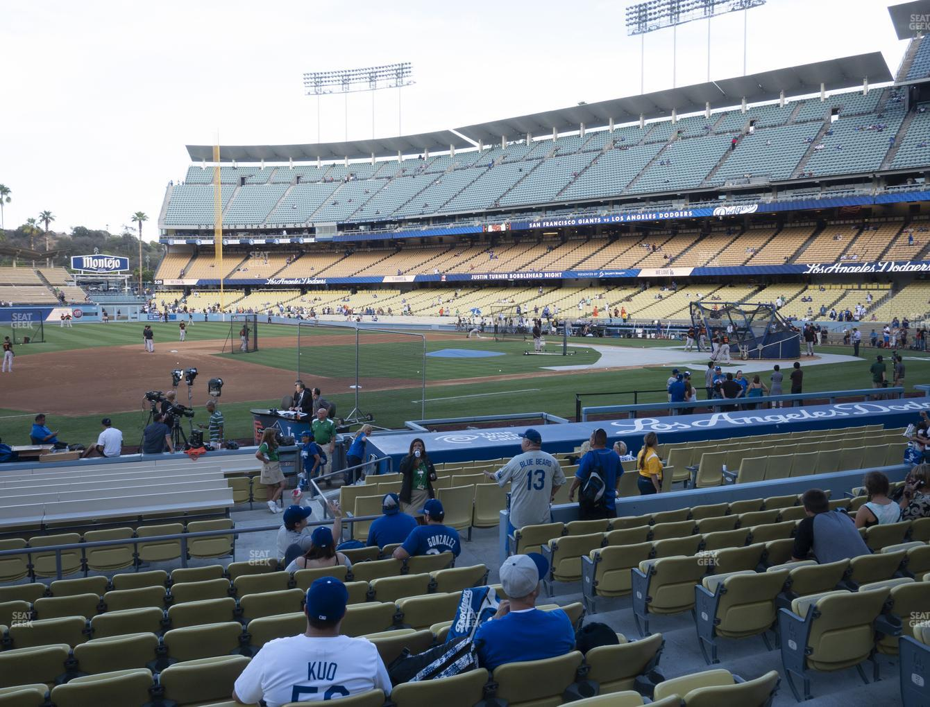 Los Angeles Dodgers at Dodger Stadium Field Box 27 View