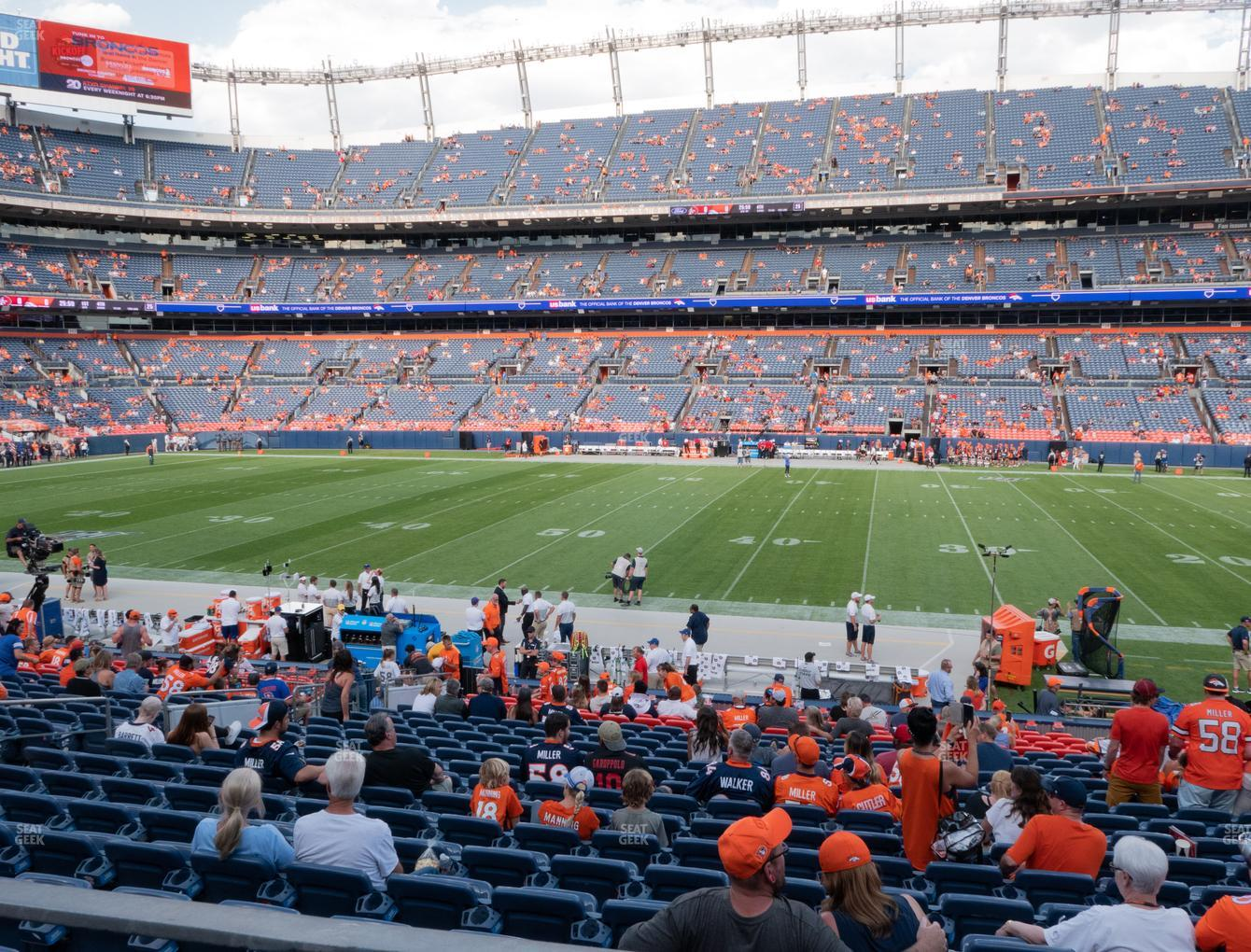 Denver Broncos at Empower Field at Mile High Section 104 View