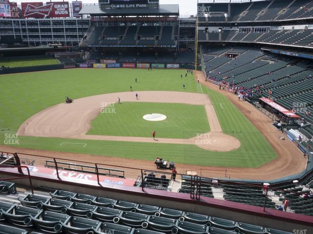 Globe Life Park Section 221 view