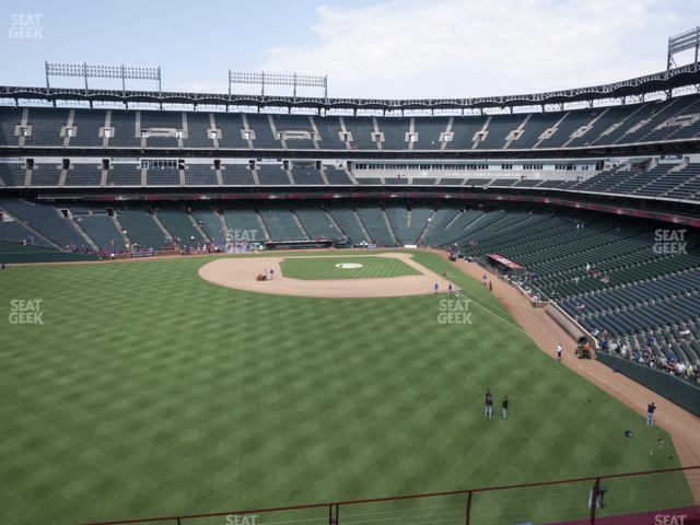 Globe Life Park Section 203 view