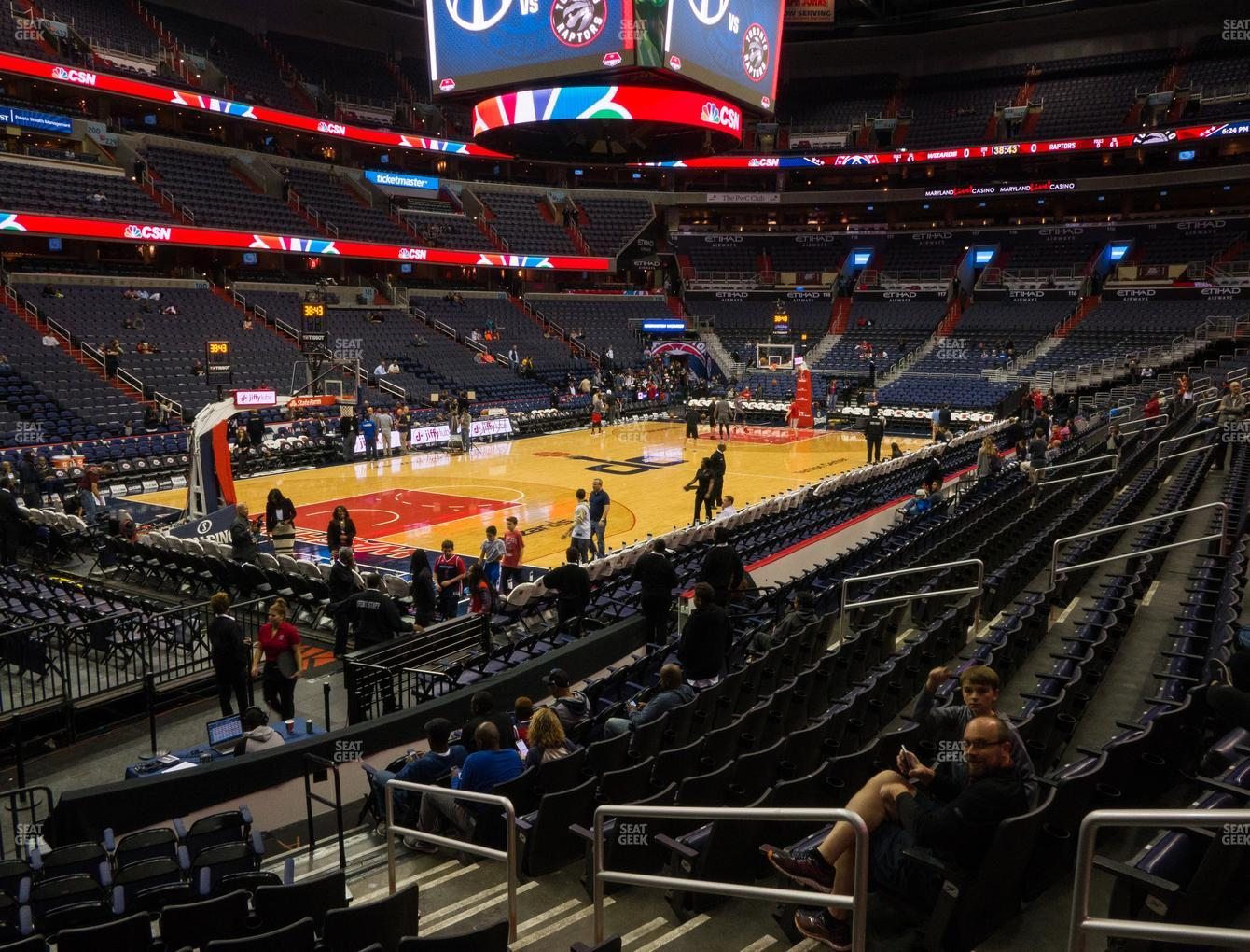 Washington Wizards at Capital One Arena Section 108 View