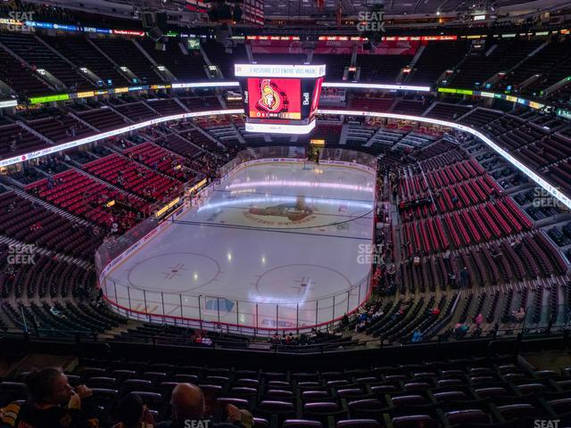 Canadian Tire Centre Section 328 view