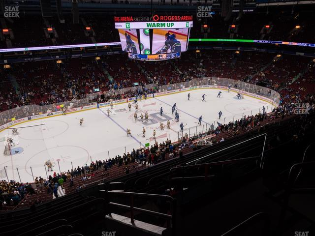 Rogers Arena Section 410 view