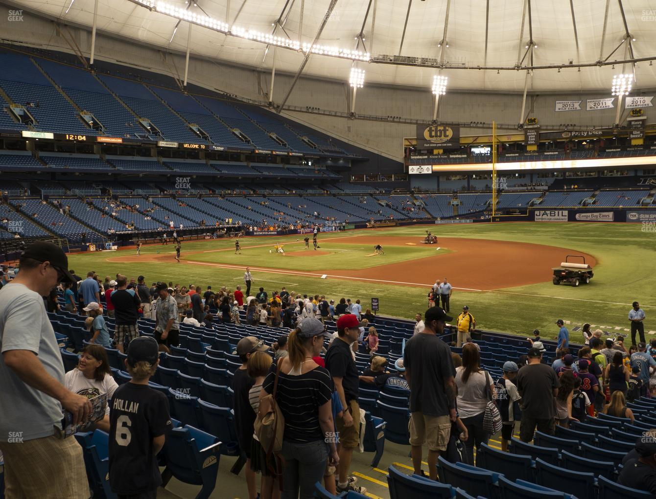 Tampa Bay Rays at Tropicana Field Section 126 View