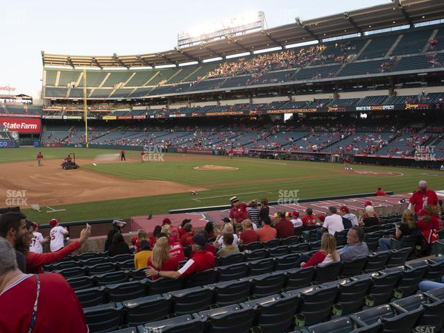 Angel Stadium of Anaheim Section 110 view