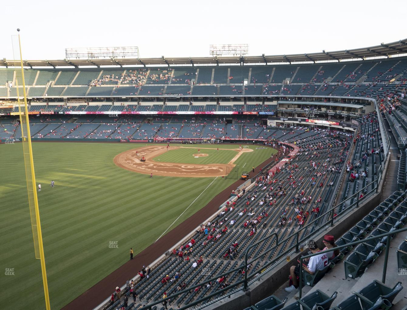 Los Angeles Angels at Angel Stadium of Anaheim Section 404 View