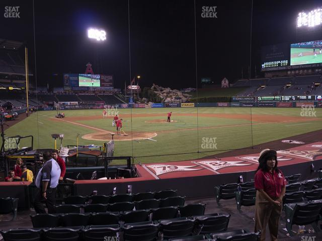 Angel Stadium of Anaheim Section 120 view