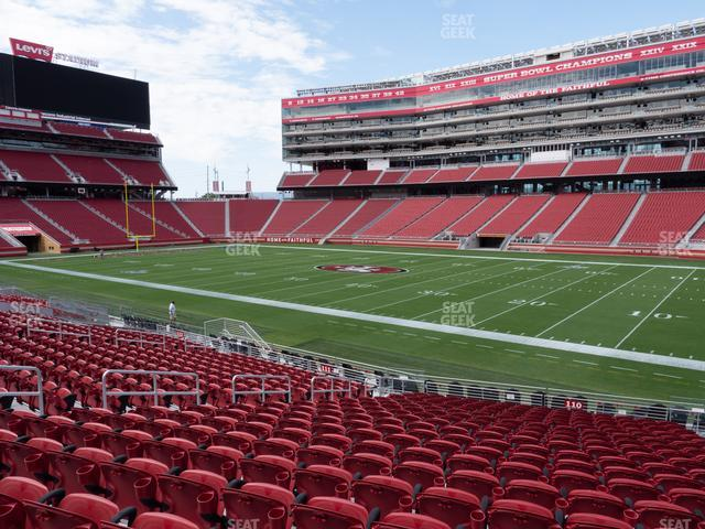 Levi's Stadium Section 110 view