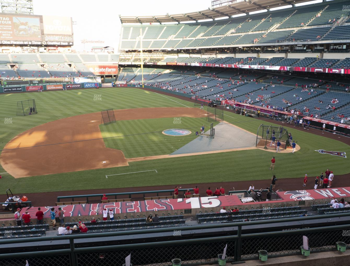 Los Angeles Angels at Angel Stadium of Anaheim Section 317 View