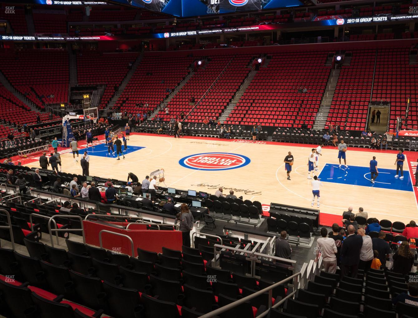 NBA at Little Caesars Arena Section 120 View