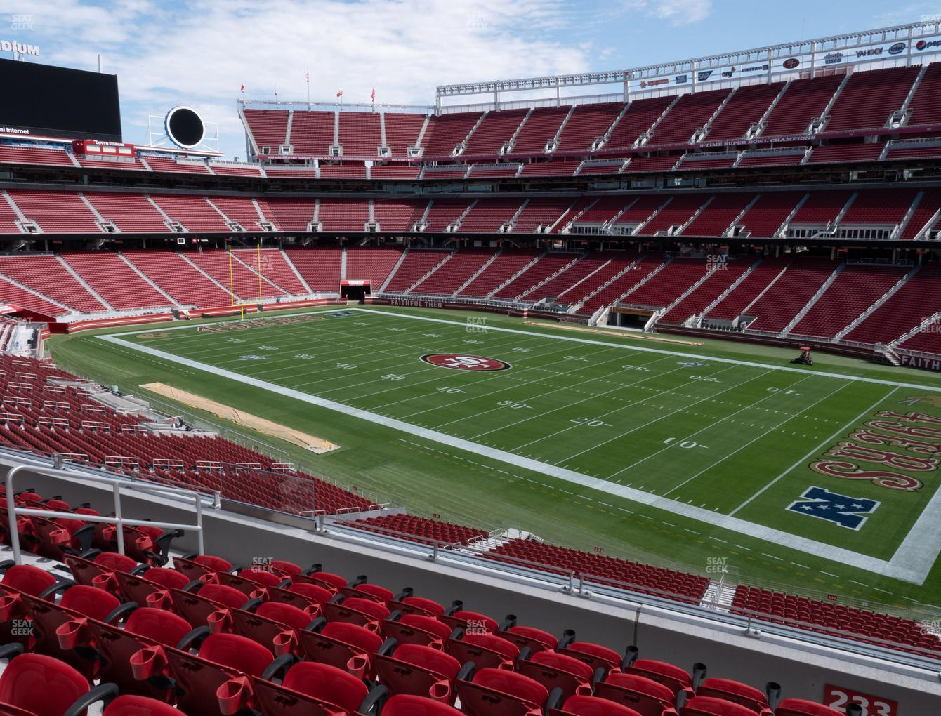 San Francisco 49ers at Levi's Stadium Section 233 View