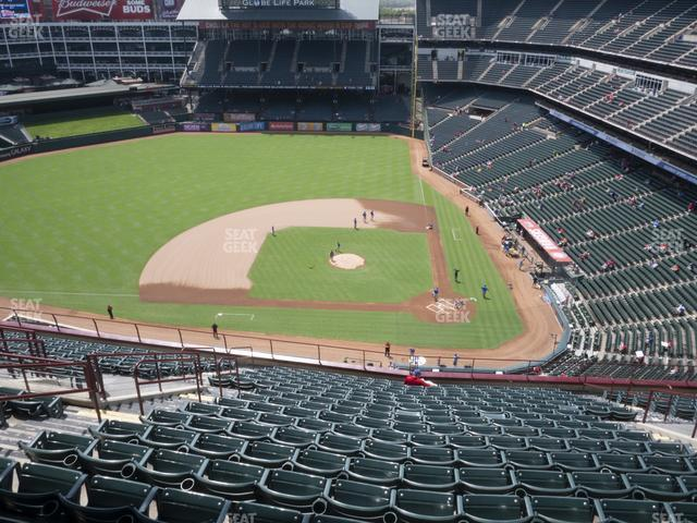 Globe Life Park Section 321 view