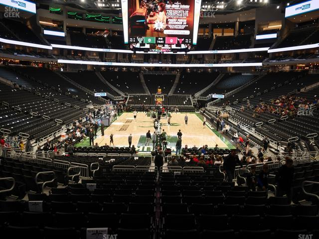 Fiserv Forum Section 112 view