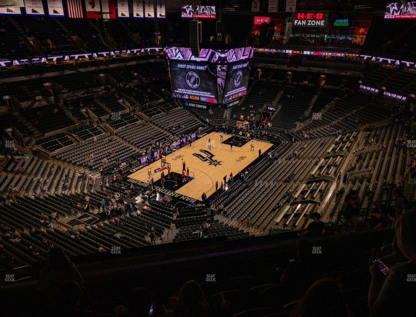 San Antonio Spurs at AT&T Center Section 229 View