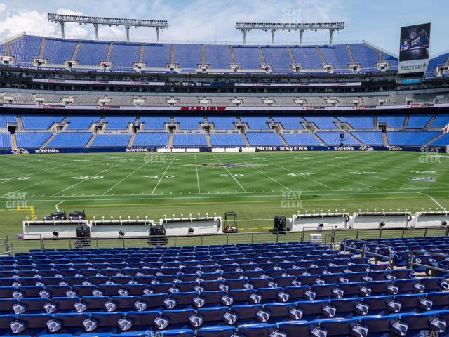 M&T Bank Stadium Section 127 view