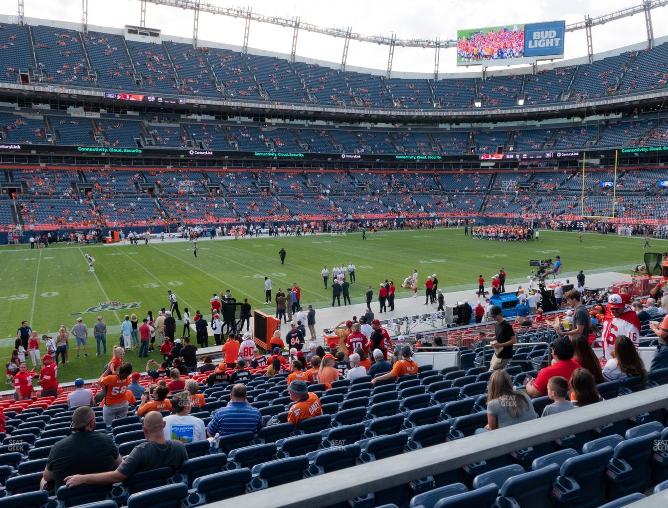 Denver Broncos at Empower FIeld at Mile High Section 125 View