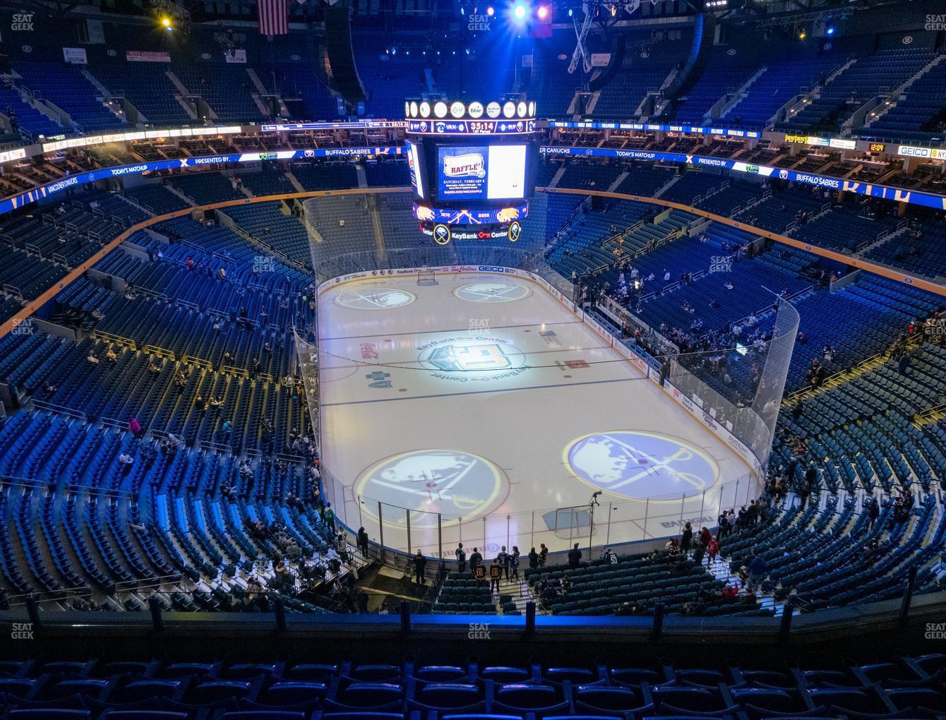 Buffalo Sabres at KeyBank Center Section 314 View