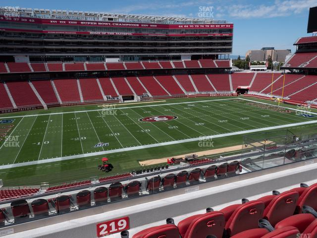 Levi's Stadium Section C 219 view