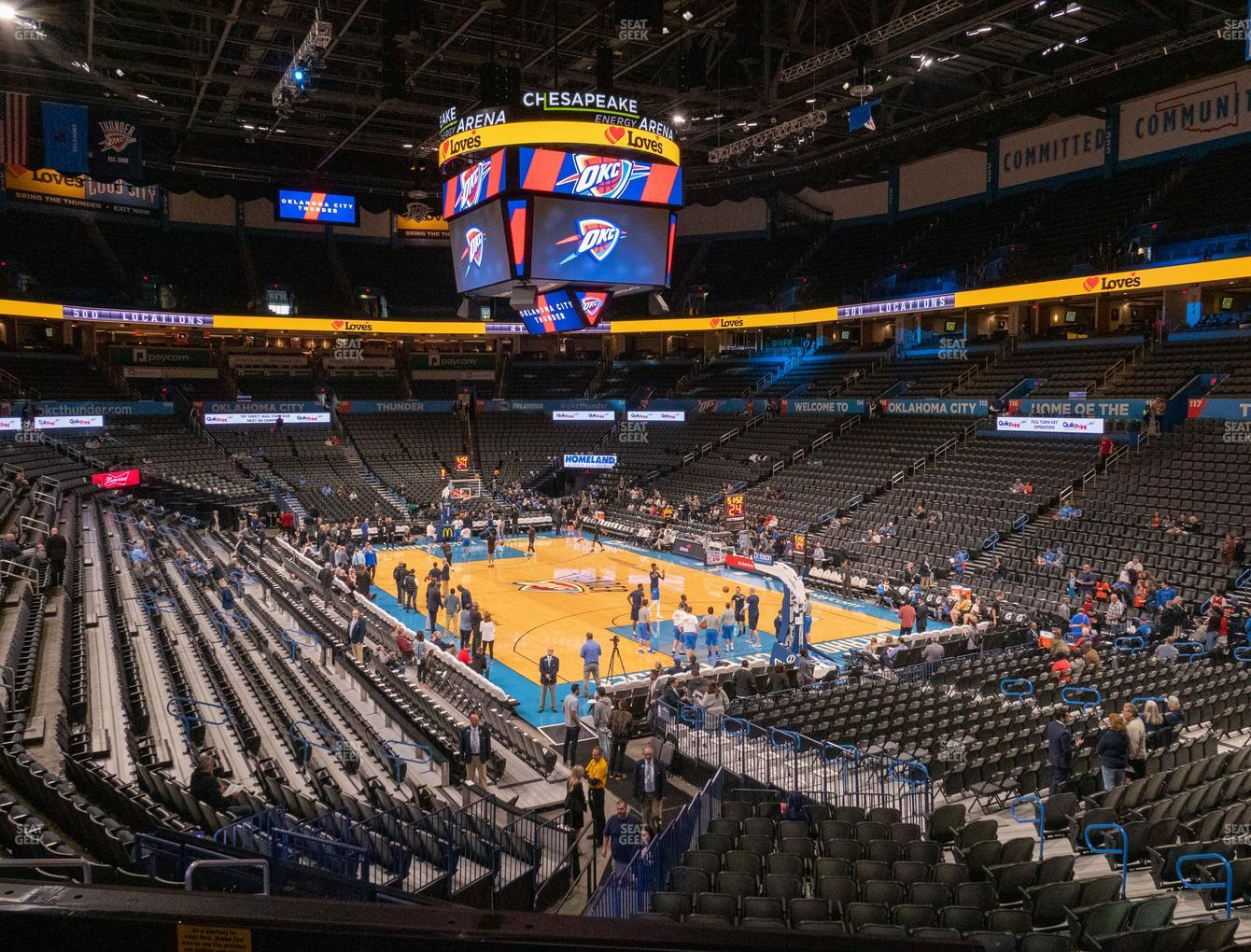 Oklahoma City Thunder at Chesapeake Energy Arena Terrace Suite 203 View