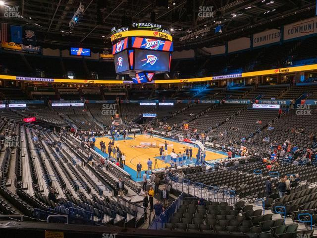 Chesapeake Energy Arena Terrace Suite 203 view