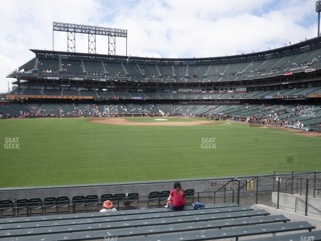 Oracle Park Bleachers 139 view