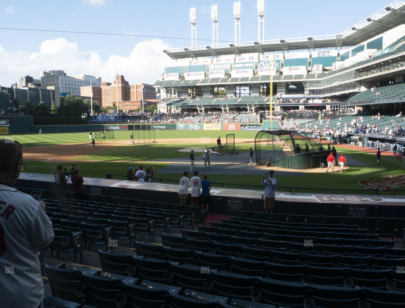 Cleveland Indians at Progressive Field Section 158 View