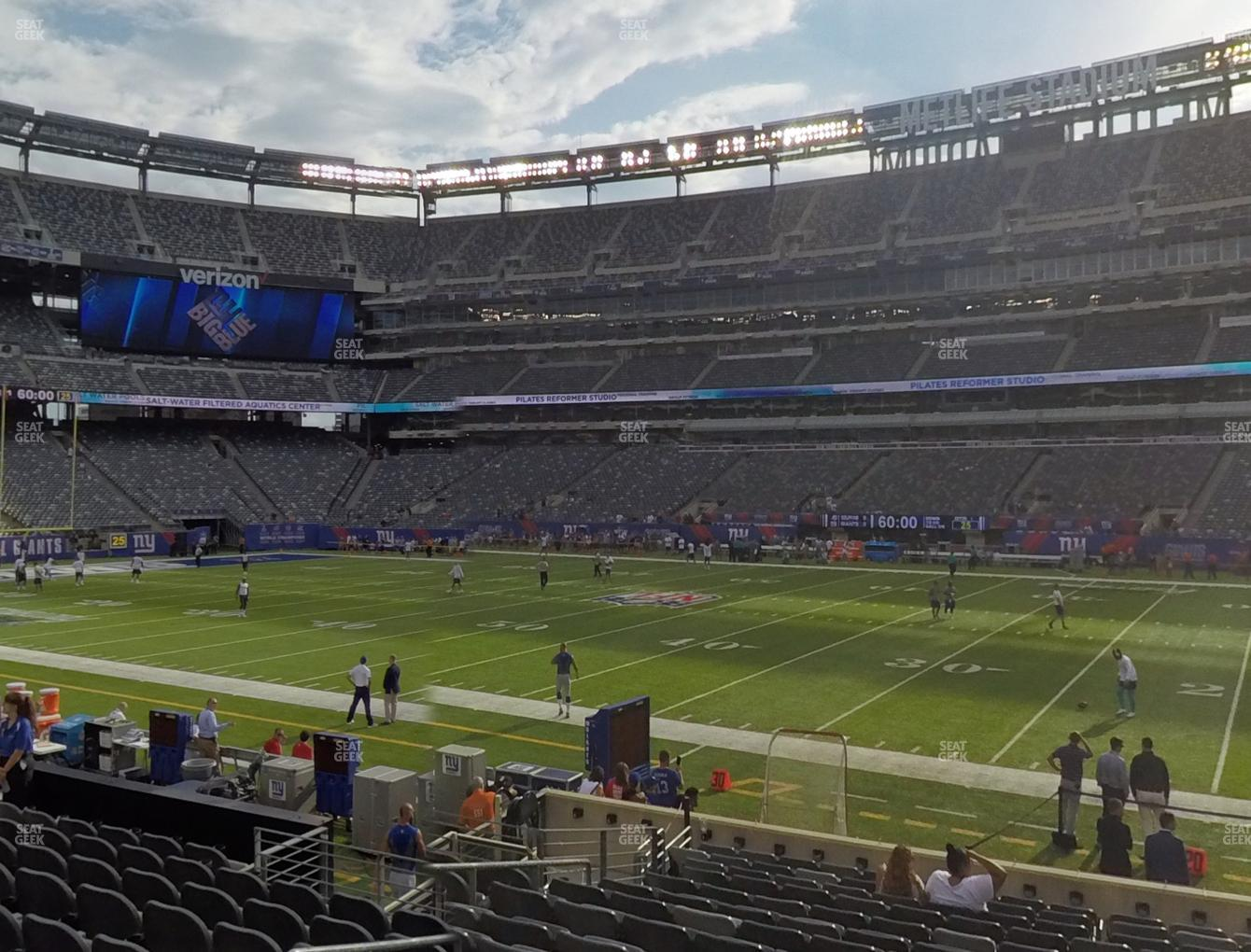 New York Jets at MetLife Stadium Section 111 A View